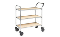 Serving trolley, chrome plated