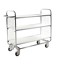 Zinc plated shelf truck, max. load 250 kg