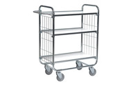 Zinc plated shelf truck