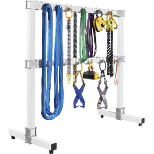 Lifting sling rack