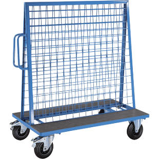 Tool and supplies trolley made of steel