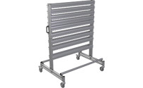 Mobile rack made of aluminium profile