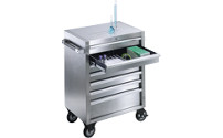 Stainless steel tool trolley
