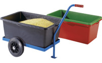 Two-wheel hand truck for container