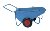 Twin wheeled bulk barrow
