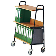 Folder trolley with 2 shelves
