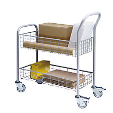 Mail distribution trolley