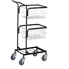 Office trolley with 2 baskets