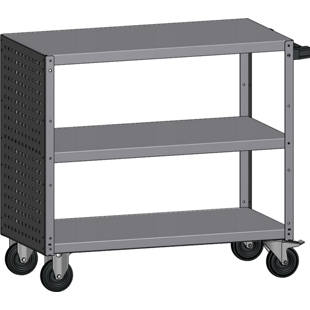 General purpose trolley, 3 shelves
