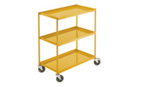 General purpose trolley with sheet steel trays
