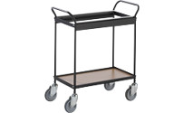 Mail distribution/suspension file trolley