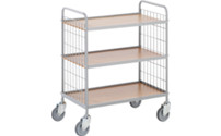 Premium office shelf trolley