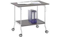 Folding table trolley
