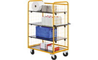 Shelf truck and shelf trolley
