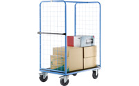 Shelf truck with mesh side panels