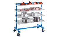 Cantilever shelf trolley