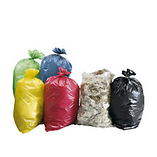 PE waste sacks, capacity 120 litres
