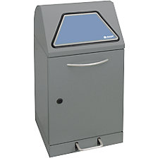 with waste sack holder, grey aluminium/structured finish