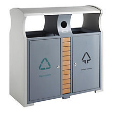 Recycling waste collector for outdoors