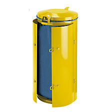 yellow with metal lid