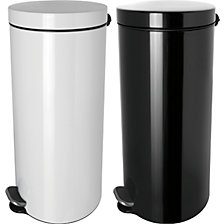 Silver ion waste collector with pedal