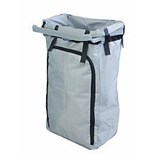 Reusable waste sack for hygienic cleaning trolleys