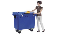 Secure waste paper collector