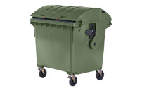 Large plastic waste container to EN 840