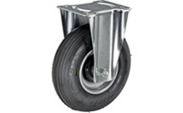 Pneumatic tyre on sheet steel rim