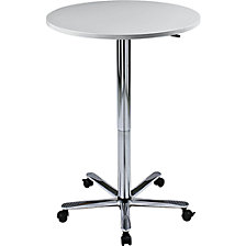 Canteen table, height adjustable