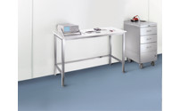 Cleanroom table with polypropylene top