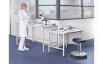 Laboratory table with H-leg frame