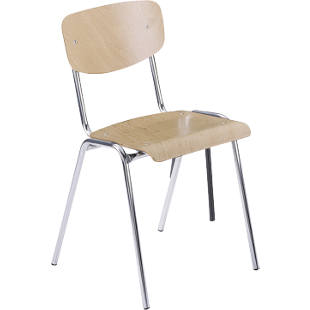 Wooden stacking chair, classic design