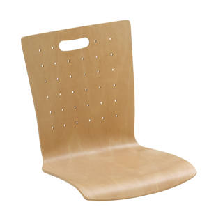 Wooden stacking chair, pack of 2