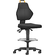 Industrial swivel chair, black