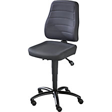 Industrial swivel chair, permanent contact mechanism