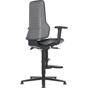 Industrial swivel chair with aluminium frame