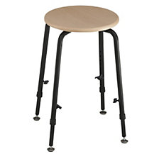 Industrial stool, height adjustable