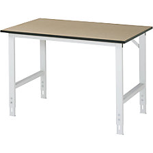 Work table, height adjustable