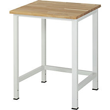 Workshop table, height adjustable