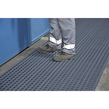 Industrial grid mat for high mechanical loads