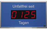 Outdoor LED display, days without an accident