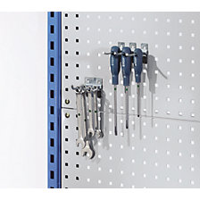 Perforated panel add-on for assembly trolley