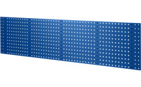 Sheet steel panel with square holes