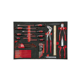Tool kit in soft foam insert