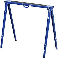 Steel working platforms, height adjustable