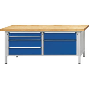Modular workbench, 2000 mm wide