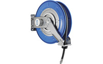 Hose reel for air, water, oil, up to 60 bar