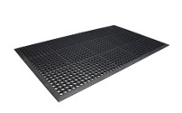Floor mat, perforated
