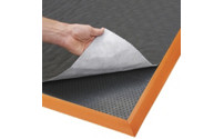Mat with oil absorbent sheeting